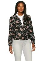 NEW MSRP $129 Ivanka Trump Women's Printed Floral Black Bomber Jacket Size 14