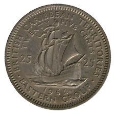 Caraibi Britannici British Caribbean Territories Eastern 25 Cents 1962 #6699A