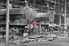 PHOTO  INSIDE THE REPAIR SHOPS AT RUGBY LOCO DEPOT 1953