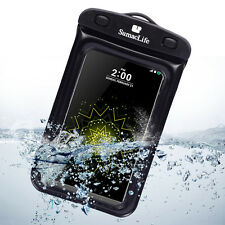 Black Waterproof Underwater Pouch Dry Bag Case Cover For LG G5 LG G4 / LG G Flex