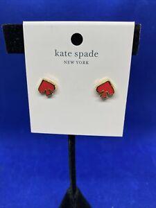 Kate Spade Everyday Spade earrings  coral  NWT