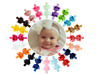 """20Pc Lot Baby Girls 4.5"""" Hair Bows Headbands for Infant Toddlers Newborn Big Bow"""