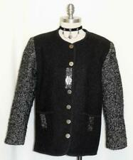BLACK ~ WOOL Women AUSTRIA Winter Dress Skirt Pants Cardigan Walk JACKET 10 M