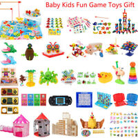Children Baby Kids Magnetic Fishing Game Wooden Puzzle Jigsaw Educational Toy UK