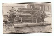 Vintage RPPC Real Photo Postcard Lumber Yard Mill Workers Possible Upper Mich!