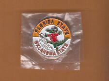 1985 GATOR BOWL LAPEL PIN FLORIDA STATE FSU SEMINOLES OKLAHOMA STATE COWBOYS