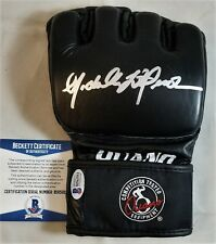 "MICHELLE WATERSON ""KARATE HOTTIE"" SIGNED Glove BECKETT BAS COA UFC MMA"