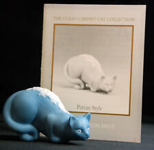 Franklin Mint Curio Cabinet Cat Figurines Parian Style Rare