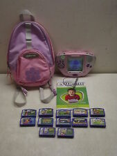 LEAP FROG LEAPSTER SYSTEM W/12 GAMES BOOKLET & BACKPACK