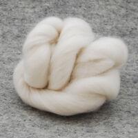 Organic Merino Wool Tops / Roving - Natural Ivory White - Felting Spinning 500g