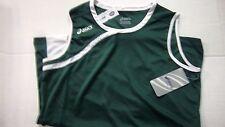 Nwt Womens Asics Dark Green & White Sleeveless Basketball Jersey Size Xl ~Nice
