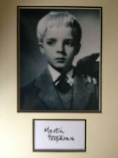 MARTIN STEPHENS - CHILD ACTOR - VILLAGE OF THE DAMNED SIGNED B/W DISPLAY