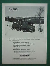 3/1976 PUB AB HAGGLUNDS & SONER SWEDEN MILITARY VEHICLE Bv 206 CHENILLE TRACK AD
