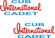 2-  ( INTERNATIONAL CUB CADET ) GARDEN TRACTOR DECALS