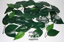 artificial silk PLAIN GREEN ficus leaf leaves wedding craft buttonholes weddings