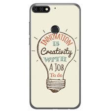 FUNDA de GEL TPU para HUAWEI HONOR 7C / Y7 2018 diseño CREATIVITY Dibujos