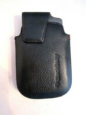 Vintage Blackberry Leather Holster Pouch Case, Magnetic Flap, Swivel Belt Clip