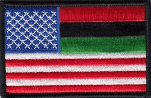 """RASTA African American Flag Embroidered Patches 3.5""""x2.25"""" iron-on"""