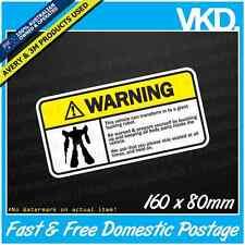 Warning Car Sticker/Decal - Funny Drift Vinyl Drift JDM Turbo Transformer Robot