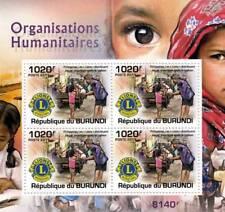 LIONS CLUBS INTERNATIONAL Humanitarian Charity Stamp Sheet #2 (2011 Burundi)