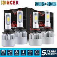 9006 LED Headlight Kit Combo 144W 48000LM High Low Beam 6000K CANBUS 4pcs 9005