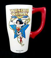 DC Comics Wonder Woman Ceramic Glass Travel Coffee Drink Mug Tumbler