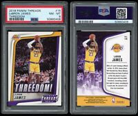 2018-19 Panini Threads LeBron James PSA 8 Threedom! Insert #15 1st Year Lakers