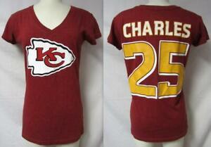 Touch Kansas City Chiefs Jamaal Charles #25 Womens Medium V-Neck T-Shirt A1 2841