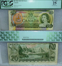 CUTTING ERROR BANK OF CANADA 1969  $20 PCGS CURRENCY VF25