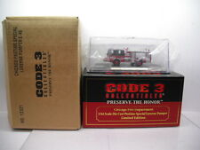 CODE 3 COLLECTIBLES CHICAGO FIRE DEPARTMENT LUVERNE PUMPER #46 1/64 SCALE