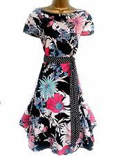 MONSOON ✩ CASSANDRA ✩ SPLENDIDA FLOREALE ANNI'50 Fit & Flare Dress ✩ UK 18