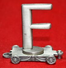 FORT PEWTER - LASTING EXPRESSIONS PEWTER TRAIN CAR LETTER F    (1)