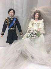 Princess Diana and Prince Charles dolls on Wedding Day, Danbury Mint (mm1437)