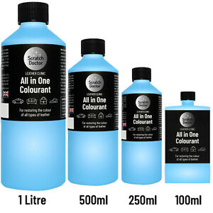 ALL IN ONE LIGHT BLUE Leather Colourant. Repair Recolour. Dye Stain Paint Colour