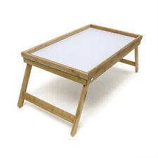 Plateau de lit service Bambou Table pliante pliable Desserte appoint 50 x 30 cm