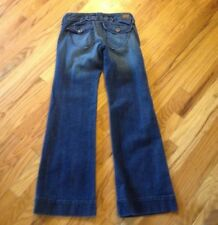 EXPRESS Low Rise Wide Leg Flap Pocket Stretch TROUSER Jeans Sz 4 W 30 x L 33