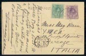 Mayfairstamps SPAIN COMMERCIAL 1922 POSTCARD TO FIRENZE ITALY wwi96729