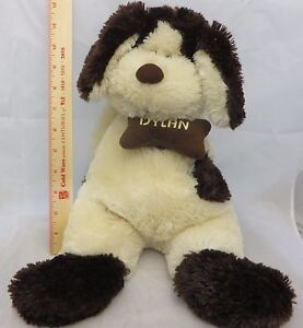 "La Senza Girl Dylan Dog Plush Promo Ad 2007 Annual 17"" Gold Collar Bone Neck Tag"