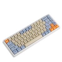 YMDK Blue Beige Orange Dye Sub 64 68 Minila Keyset Thick PBT OEM Profile Keycap