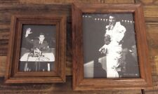 2 Elvis Presely Photos- Black And White- In Frame