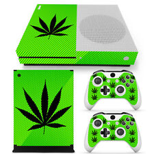 Cannabis Rasta Vinyl Decal  Skin Stickers for Xbox ONE S Console & 2 Controllers