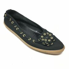 Women's Sesto Meucci Slip On Shoes Sneakers Size 12M Black Floral Made Italy U2