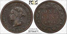 1876-H Canada 1C PCGS XF45BN TrueView - RicksCafeAmerican.com
