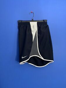 RARE!! WOMEN'S NIKE DRI-FIT TEMPO SHORTS BLACK WHITE RUNNING CI7845-014 SPORT