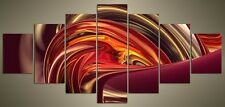 """LARGE PURPLE ABSTRACT CANVAS WALL PICTURE SPLIT 7 PANELS FLASH ART 56"""" 28"""" 2010"""