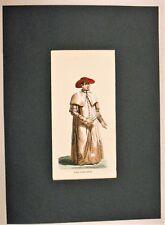 Stampa Print PAPA ABITO PRIVATO approx. 1858 Pope Costume