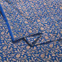 Sanskriti 1 Yd Art Silk Blue Woven Brocade/Banarasi Dress Material Craft Fabric