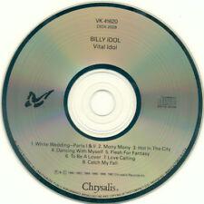 Billy Idol – Vital Idol (Chrysalis – VK 41620, CD, Compilation)  FREE SHIPPING