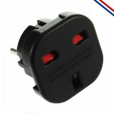 Adaptateur Secteur Prise Plug Anglaise US UK Vers France UE Europe Voyage Neuf