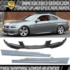07-10 BMW E92 E93 Coupe 2Dr MTECH Msport Front Bumper Lip + M3 Style Side Skirts